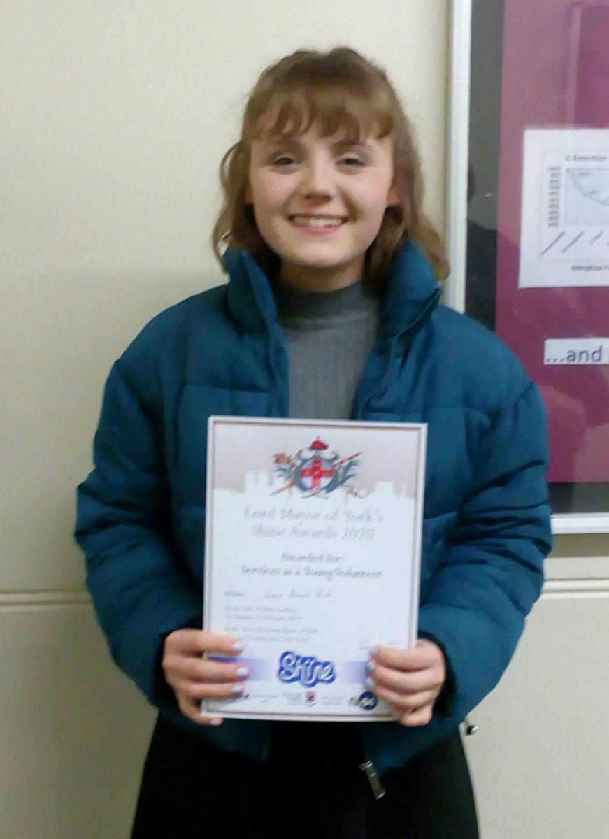 Grace winner of 2020 Shine award