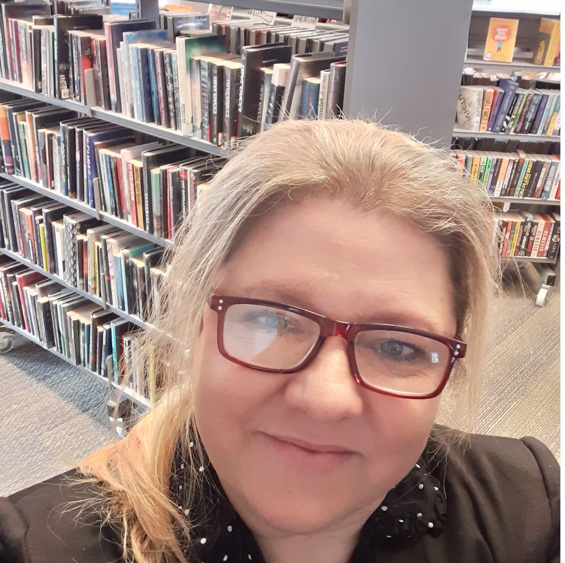 Amanda Lawson manager at New Earswick library