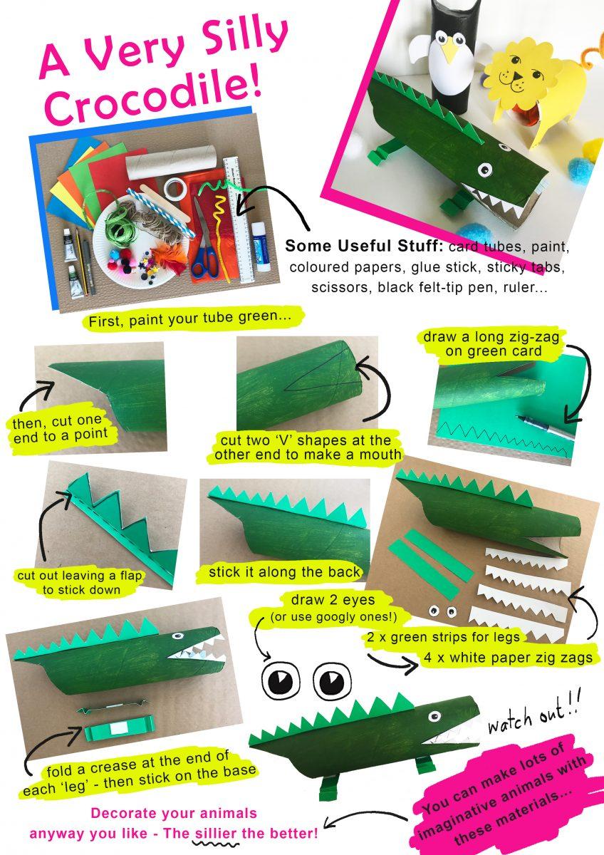 A Very Silly Crocodile Craft Activity PDF
